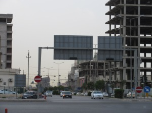 Erbil, looking towards city center